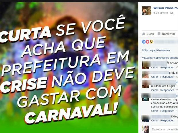42a5debb8c G1 - Decreto suspende recursos e Carnaval pode ser cancelado em ...