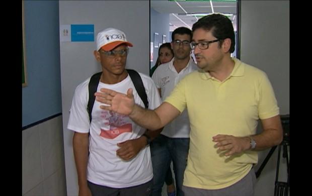 Ultramaratonista Cristiano Oliveira (Foto: Reprodução / TV Asa Branca)