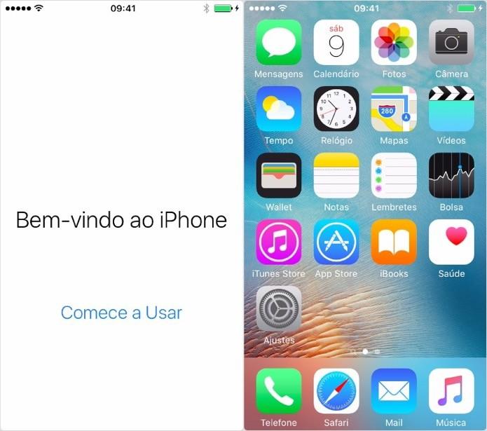 Finalizando a restauração do iPhone (Foto: Reprodução/Helito Bijora)