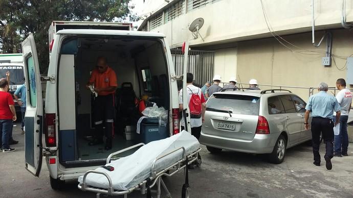 São Paulo x Corinthians acidente torcedor Morumbi (Foto: Kleber Paixão)