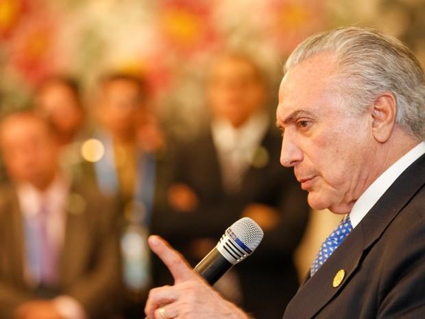 Presidente Michel Temer durante coletiva de imprensa (Foto: Beto Barata/PR)