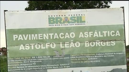 Comissão é montada para fiscalizar obras paradas em Araguaína