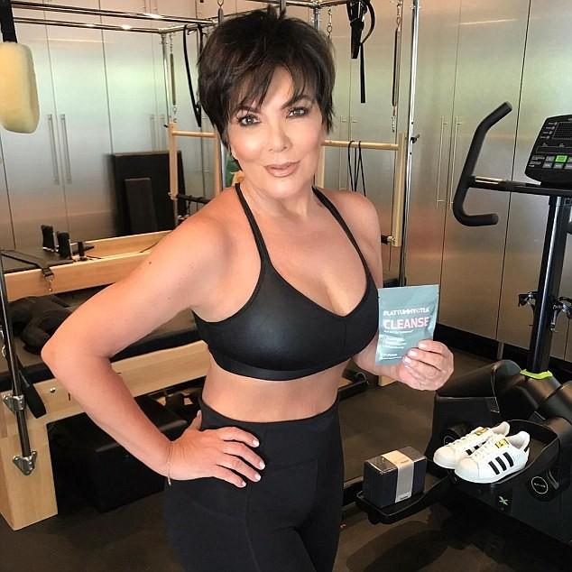 Kris Jenner é acusada de abusar de Photoshop em selfie na academia (Foto: Reprodução/Instagram)