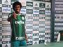 Keno é apresentado pelo Palmeiras e afirma que maior desafio é ser titular