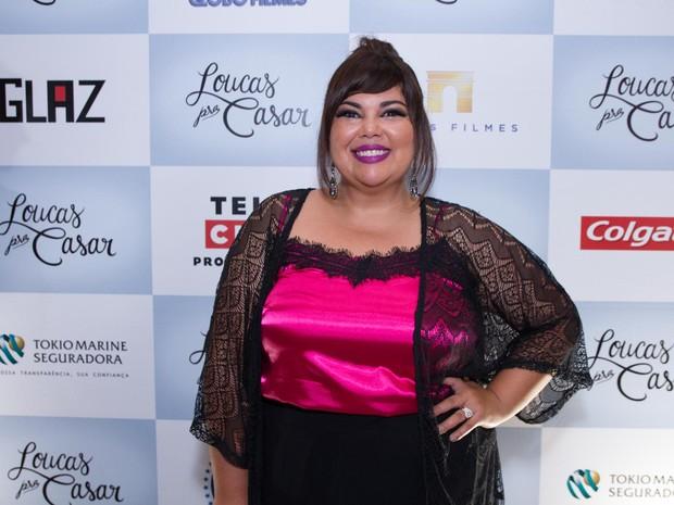 Fabiana Karla em pré-estreia em São Paulo (Foto: Marcelo Brammer / AgNews)