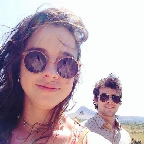 Julia Bernat e Guilherme Lobo (Foto: Arquivo pessoal)