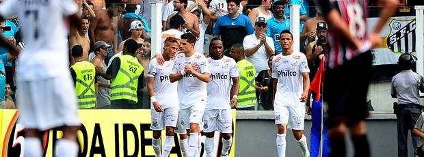 Miralles comemora gol do Santos contra o São Paulo (Foto: Marcos Ribolli / Globoesporte.com)