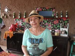 Proprietária Anitalice Galvão comemora sucesso do Museu da Roça (Foto: Pedro Santiago/G1)