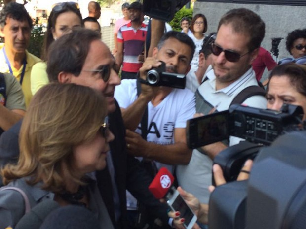 Miriam Dutra chega na sede da Polícia Federal em São Paulo (Foto: Tahiane Stochero/G1)