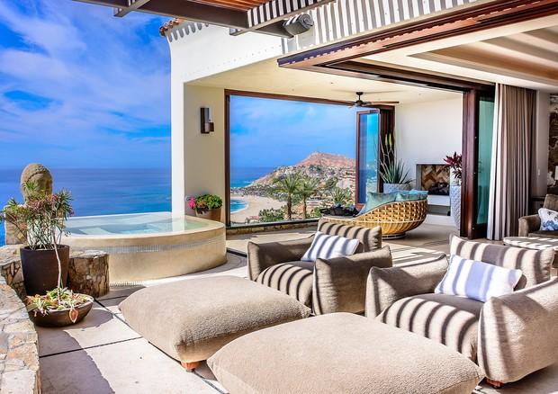 Mansão escolhida por Mariah Carey em Los Cabos (Foto:  Rigoberto Moreno/Casa Fryzer)