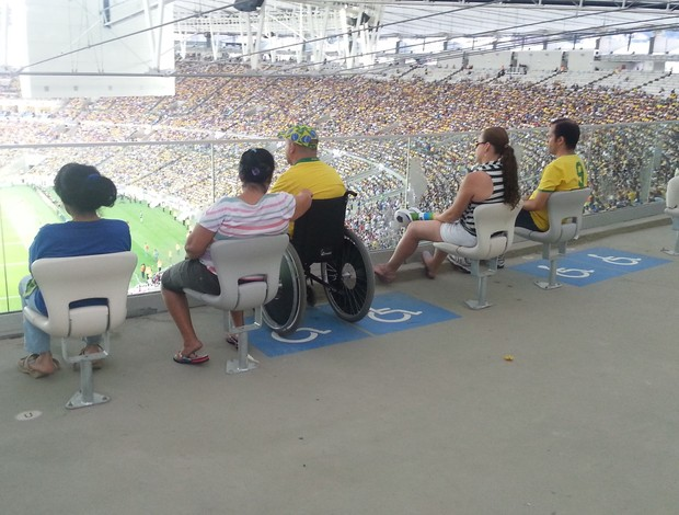 Maracanã posição de cadeirante no estádio (Foto: Marcelo Baltar)