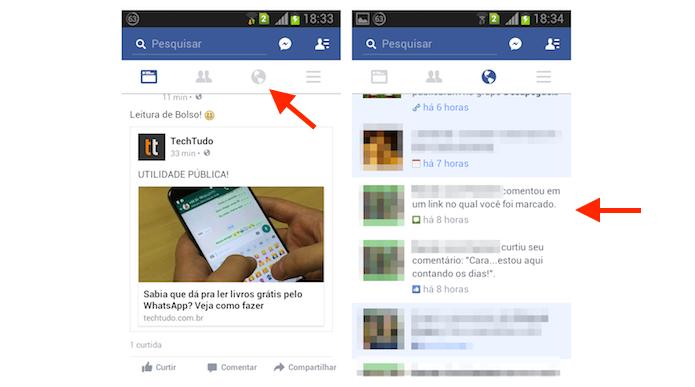 Acessando uma publicação para desativar as notificações de marcação no Facebook para Android (Foto: Reprodução/Marvin Costa)