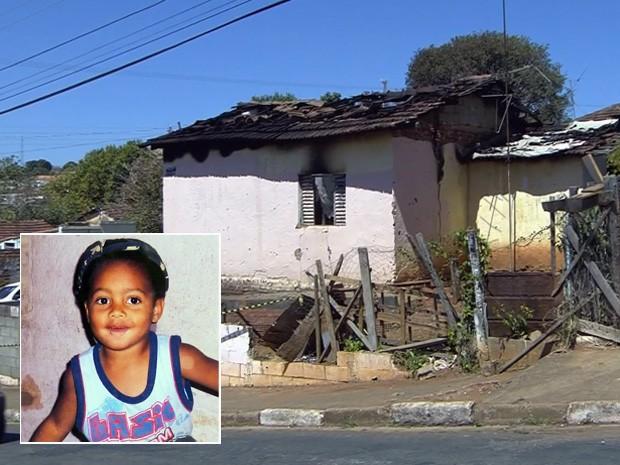 Criança de 3 anos morre em incêndio em casa em Guaxupé (Foto: Reprodução EPTV)