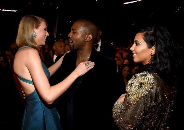 Taylor Swift, Kanye West e Kim Kardashian West (Foto: Getty Images)