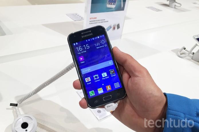 Galaxy J1 Samsung Forum 2015 (Foto: Gabriella Fizman/TechTudo)