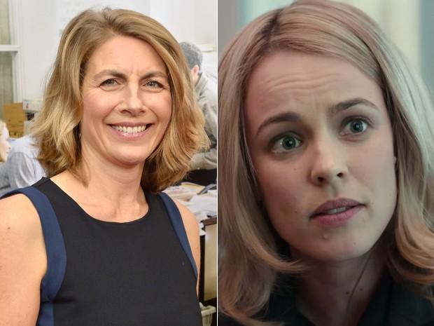 À esquerda, a jornalista Sacha Pfeiffer, e, à dir., Rachel McAdams em 'Spotlight' (Foto: Paul Marotta/Getty Images/AFP e Divulgação)