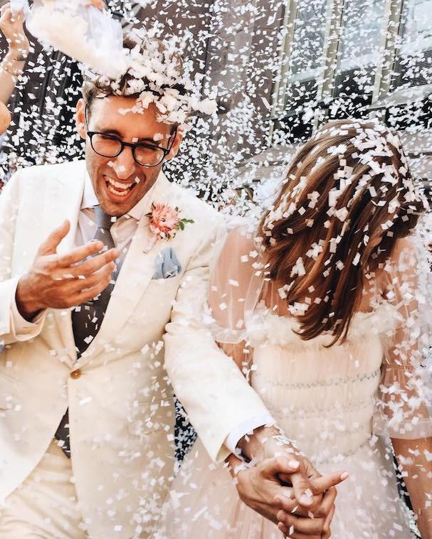 Casamento de Agyness Deyn e Joel McAndrew (Foto: Reprodução/Instagram)