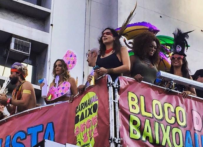 Tulipa Ruiz e Paula Lima também agitaram o bloco (Foto: Arquivo pessoal)