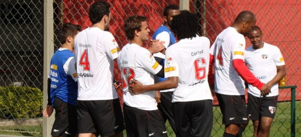 JOgadores são paulo treino (Foto: Rubens Chiri / saopaulofc.net)