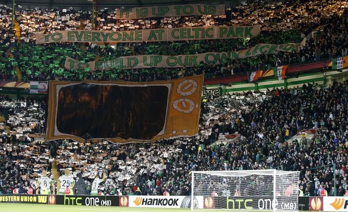 Torcida Celtic x Inter de Milão (Foto: Reuters)