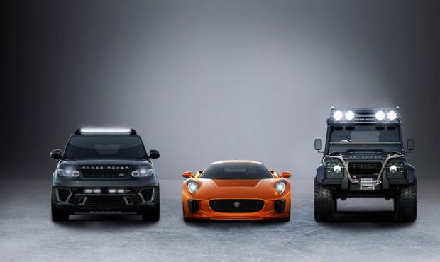 Os carros do novo filme de 007 (Foto: Divulgação)