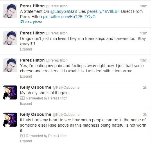 Tweets de Perez Hilton (Foto: Reprodução Twitter)