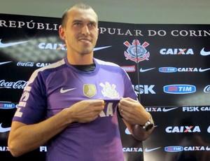 Walter apresentação Corinthians (Foto: Diego Ribeiro)