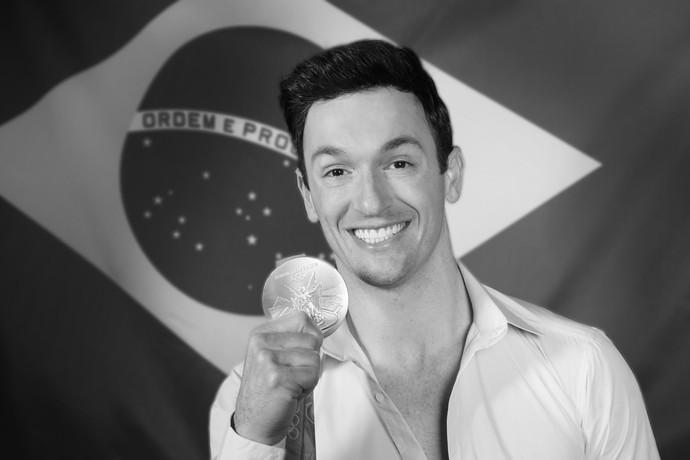 Diego Hypolito foi medalha de prata após apresentação no solo (Foto: Carol Caminha/Gshow)