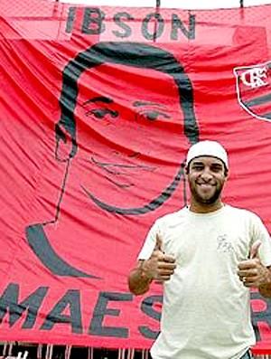 Bandeira Ibson Maestro Flamengo (Foto: Arquivo Pessoal)
