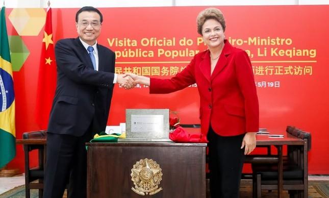 Li Keqiang e Dilma Rousseff (Foto: Roberto Stuckert Filho / PR)