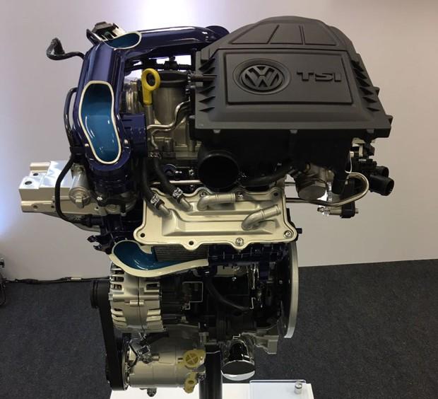 Motor 1.0 TSI do Volkswagen Polo (Foto: Marcus Vinicius Gasques / Autoesporte)
