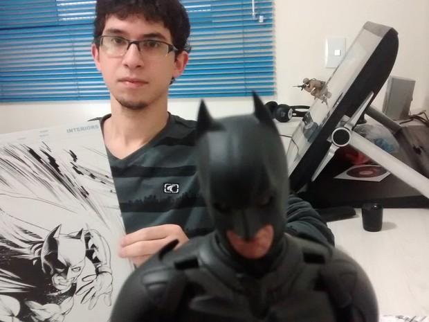 Batman é uma das paixões do quadrinista (Foto: Jamile Santana/G1)