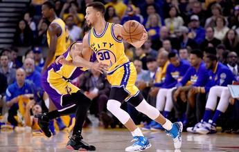 Com direito a vareio, Warriors sopram Lakers do caminho e fazem história