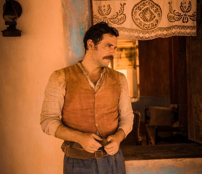 Rodrigo Lombardi será o capitão Ernesto Rosa em 'Velho Chico', rival de Afrânio, personagem de Rodrigo Santoro (Foto: Caiuá Franco/ Globo)