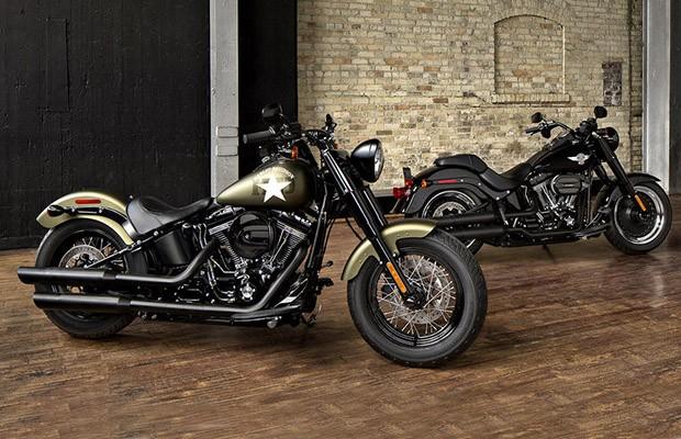Harley-Davidson Fat Boy s e Softail Slim S (Foto: Divulgação)