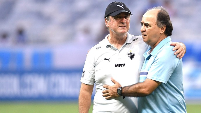 Marcelo Oliveira e Levir Culpi, Cruzeiro X Atlético-mg (Foto: Douglas Magno)