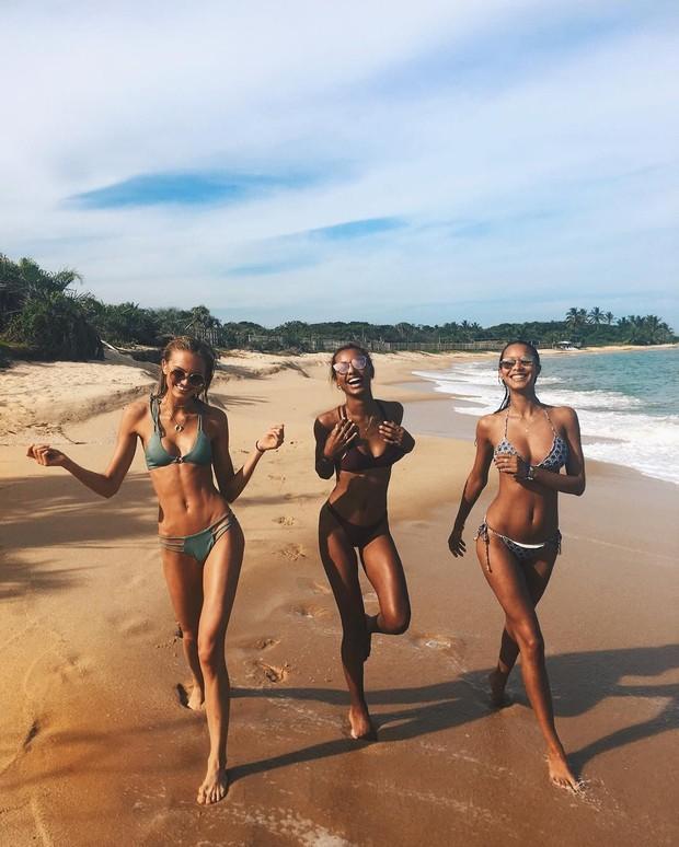 Angels Romee Strijd, Jasmine Tookes e Laís Ribeiro (Foto: Instagram / Reprodução)