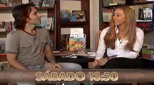 Márcio de Camillo nateu um papo muito bacana com a escritora. (Foto: Reprodução/TVMO)