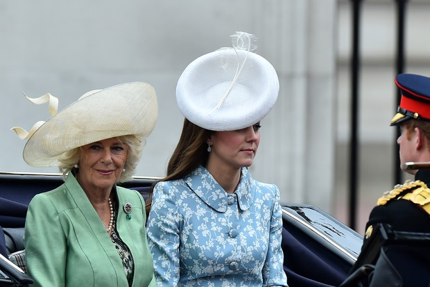 Kate Middleton no  Trooping the Colour (Foto: Reuters)