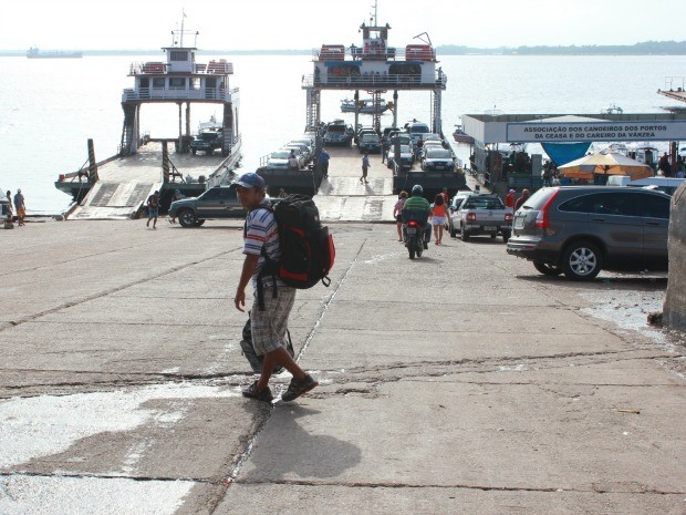 Porto da Ceasa, na Zona Sul de Manaus (Foto: Adneison Severiano/G1 AM)
