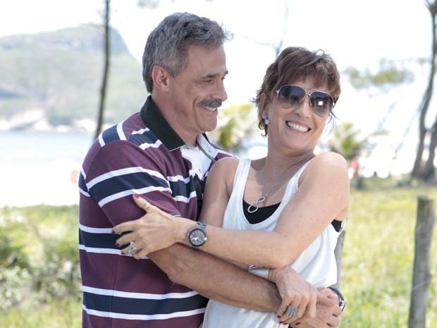 Quanto amor! O coronel está caidinho... (Foto: Salve Jorge/ TV Globo)