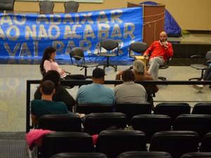 Manifestantes dormiram na Câmara de Indaiatuba (Foto: Imprensa/Câmara dos Vereadores)