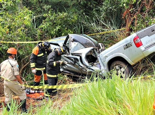 Acidente fatal deixa uma vítima na MS-473, em Nova Andradina (Foto: Sandro Almeida/Jornal da Nova )