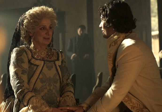 Duque de Ega e Alexandra são aliados (Foto: TV Globo)