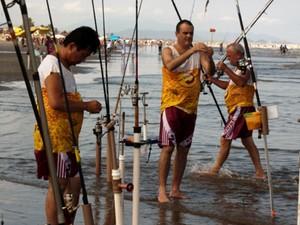 Torneio de pesca de arremesso é realizado em Peruíbe (Foto: Edilson Almeida / Prefeitura de Peruíbe)