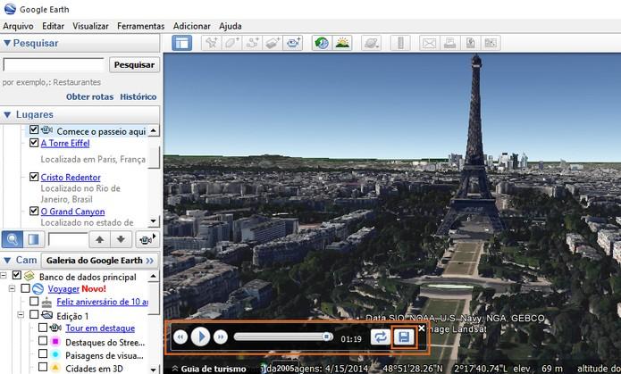 Encerre e salve o vídeo no Google Earth (Foto: Reprodução/Barbara Mannara)