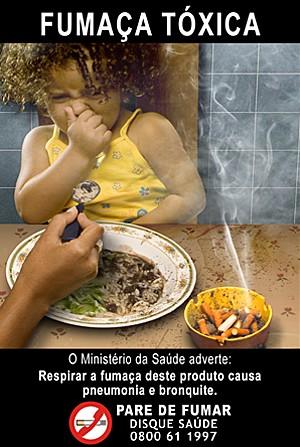 Fumaça tóxica cigarro (Foto: Ministério da Saúde/Divulgação)