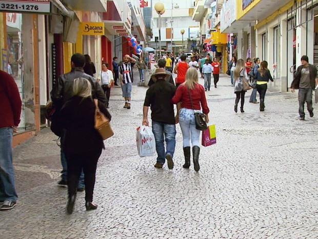 Centro comercial de Varginha vai passar por revitalização (Foto: Reprodução EPTV)