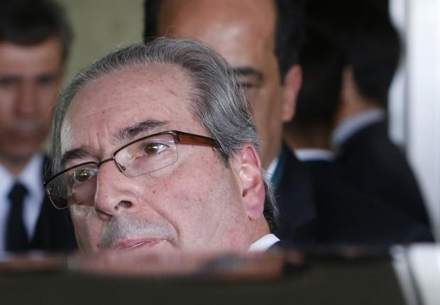 O deputado Eduardo Cunha (PMDB-RJ) deixa a Câmara dos Deputados (Foto: Igo Estrela/Getty Images)