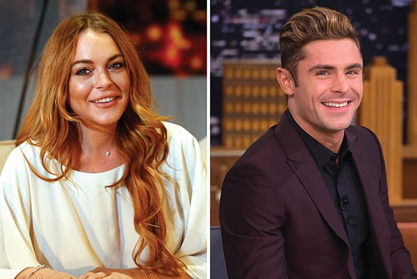 Lindsay Lohan e Zac Efron (Foto: Getty Images)